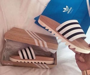 adidas, shoes, and slippers image