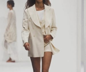 fashion, runway, and white image