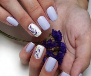 nails, purple, and spring image