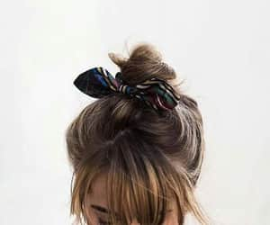 bangs, bow, and brunette image
