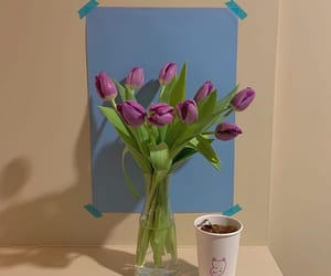 flower, purple, and tulip image