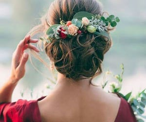 flower, haircut, and cute image