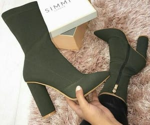 boots, green, and style image
