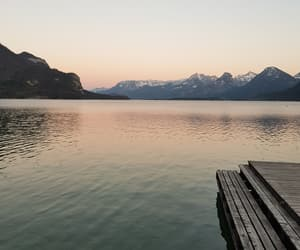 calm, lake, and lakeside image