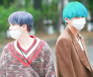 blue hair, kbs music bank, and 190419 image