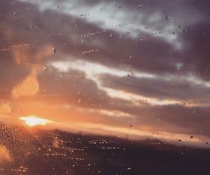rain, sky, and sunset image