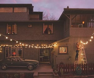 lights, car, and home image