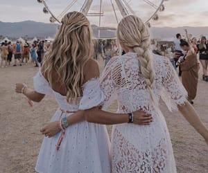 beach, blondies, and dresses image