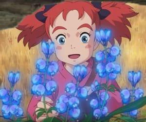 blue eyes, ghibli, and red hair image