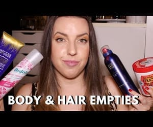 body care, empties, and video image