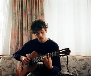 boy, guitar, and vintage image