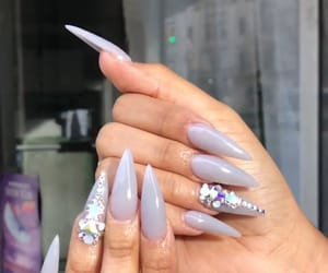 acrylics, jewels, and nails image