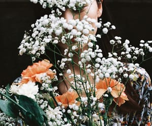 cool, vintage, and flowers image