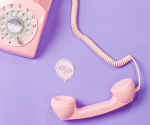 pink, purple, and telephone image