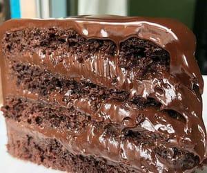 brownie, chocolate, and cake image