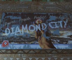 billboard, diamond city, and dystopian image