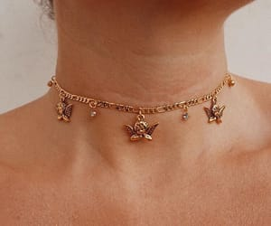 beauty, girl, and jewelry image
