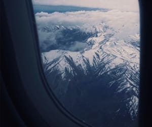 chile, plane, and snow image