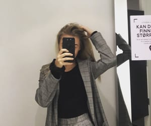 black, mirror, and blonde image