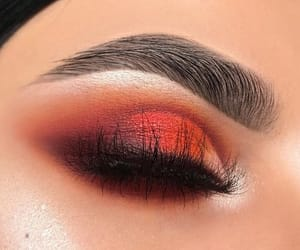 makeup, eye, and red image