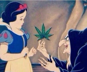 weed, snow white, and disney image