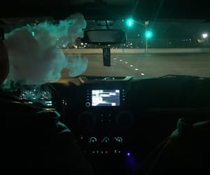 smoke, car, and night image