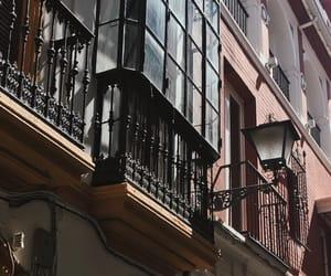 balcony, lamp, and Malaga image