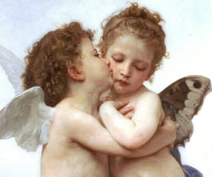 angels, romantic, and gold image