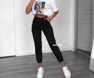 fashion, girl, and pants image