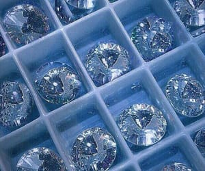 blue, aesthetic, and diamonds image