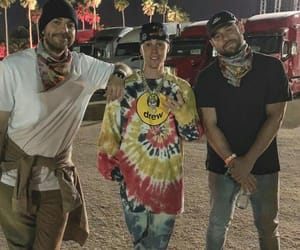 coachella, justin bieber, and scooter braun image