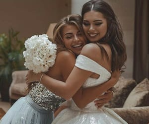 wedding, friends, and best friends image