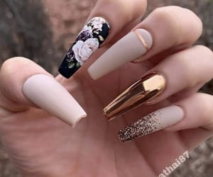 nails, girl, and glam image