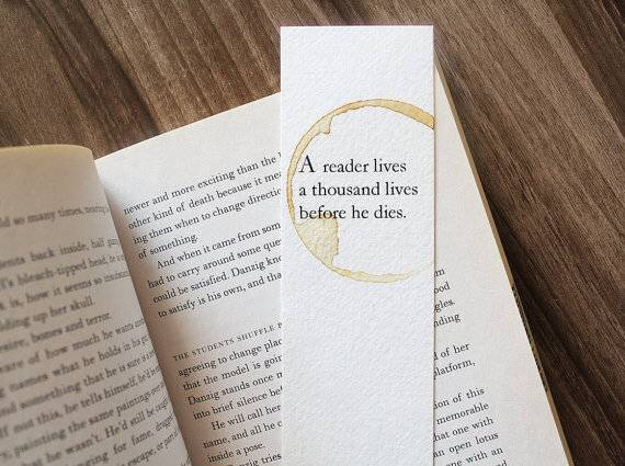 quotes, book, and bookmark image