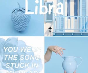 aesthetic, blue, and zodiac sign image
