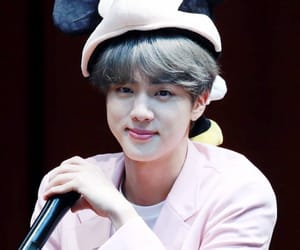 jin, rm, and bts fansign image