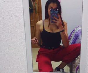 pants, joggers, and baddie image