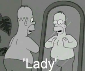 lady, homer, and man image