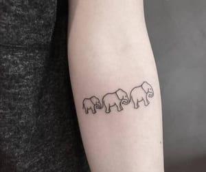elefant and tattoo image