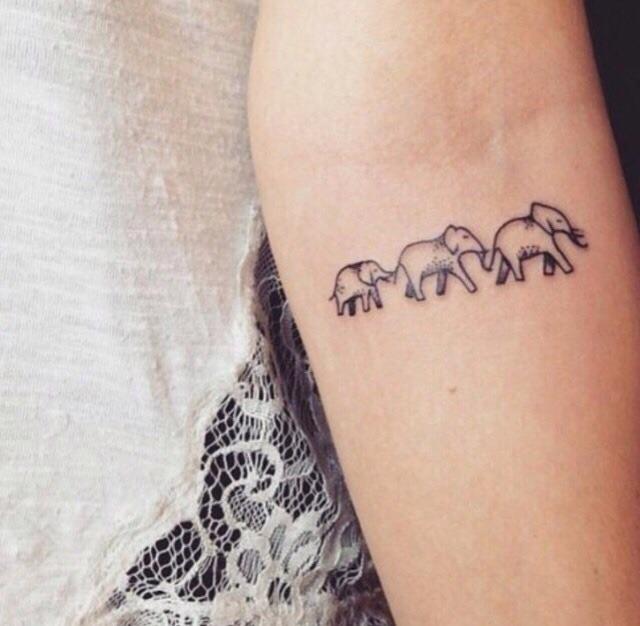 tattoo, elephant, and arm image
