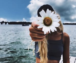 flowers, girl, and summer image