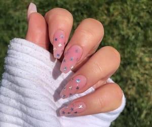 nails, stars, and pink image