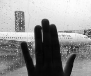 airplane, rain, and window image