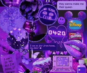 aesthetic, purple, and wallpaper image