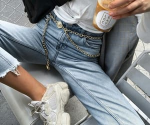 denim and sneakers image