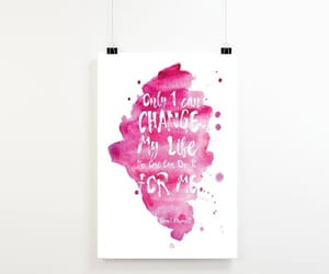 bedroom decor, inspirational quote, and office art image