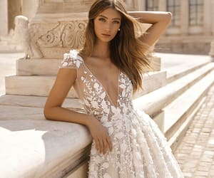 brides, wedding, and wedding dresses image