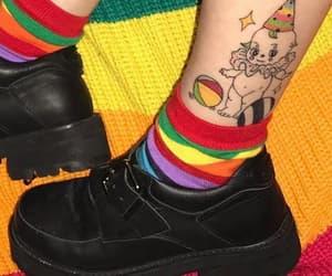 rainbow, tattoo, and aesthetic image