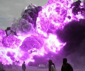 purple and fire image