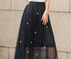 fashion, long skirt, and street image